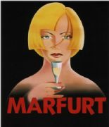 Vintage champagne advertisement poster - Marfurt